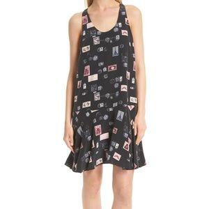 Joie Arianna Drop Waist Print Silk Dress